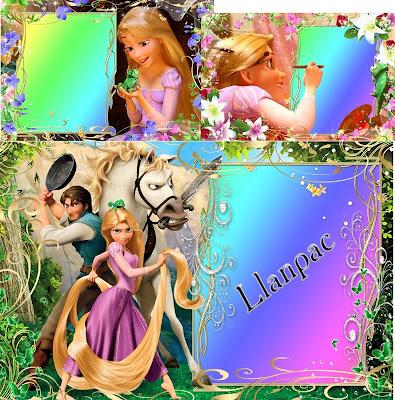 """Molduras para fotos do filme da Disney """"Enrolados"""""""