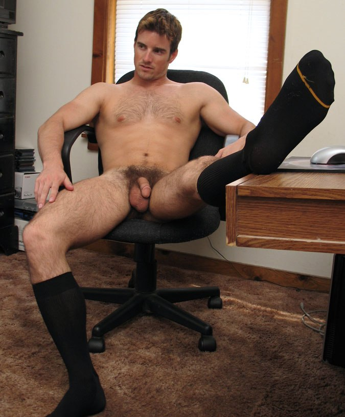 Nude male at home not take