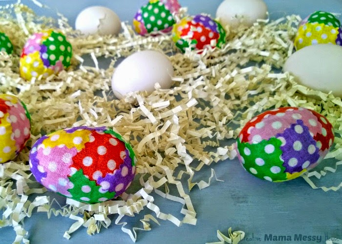 Decorate for Easter with these Patchwork Polka Dot Easter Eggs