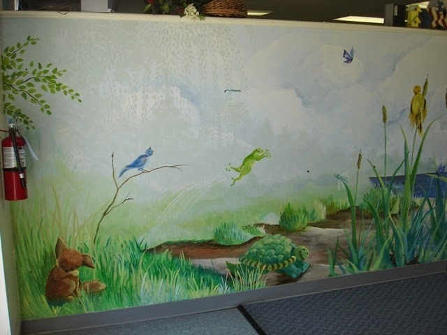 Wall Painting Designs Birds : Ideas for painting a wall mural