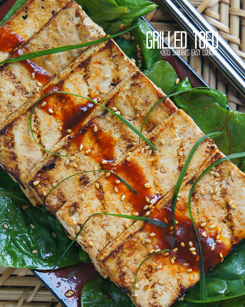 Easy homemade recipe for Grilled Marinated Tofu