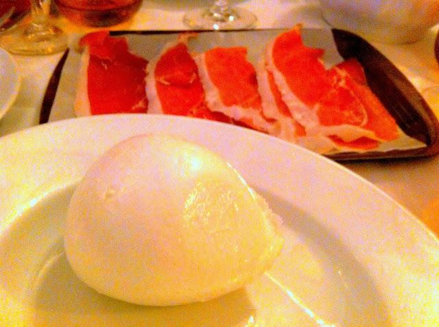 Mozzarella y prosciuto. Caffé Italiano, Florencia