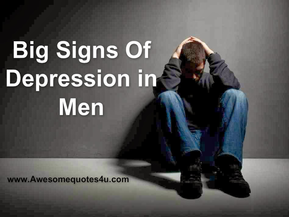 depression in men Depression is the leading cause of ill health and disability worldwide, but men don't normally talk about it keep an eye out for these symptoms.