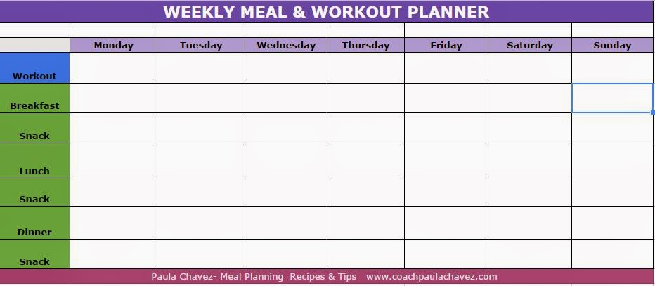 Healthy Weekly Meal Plan  Recipekid