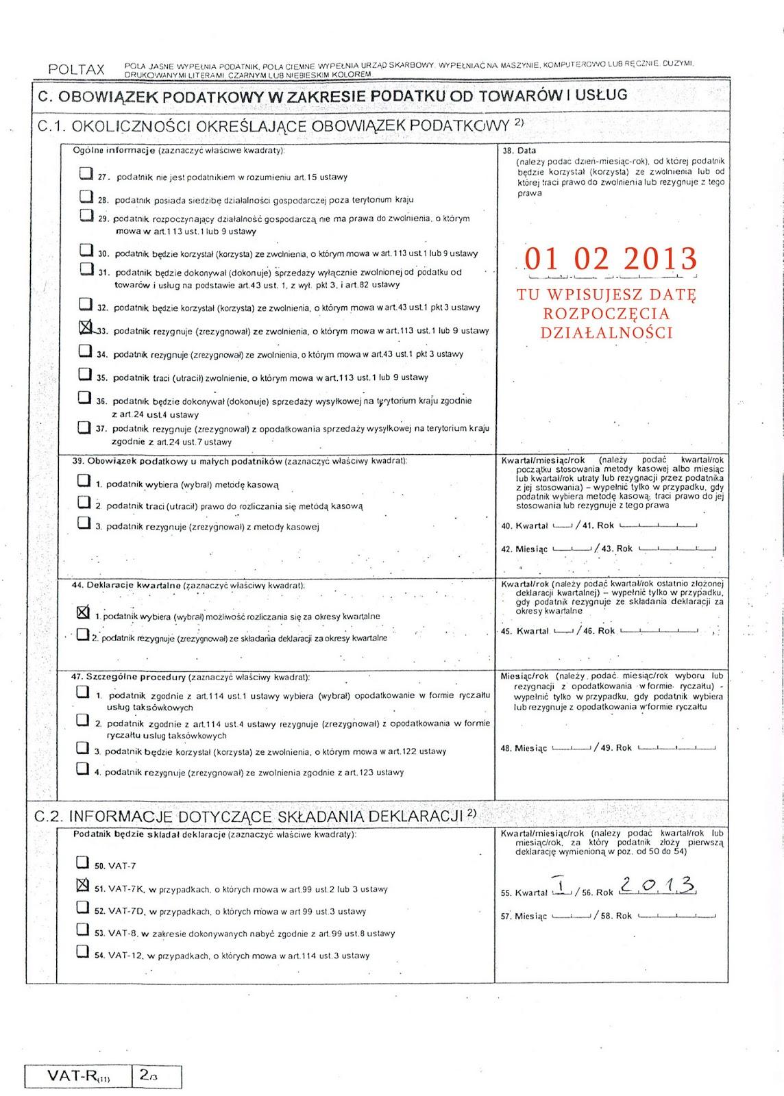 Wniosek VAT-R