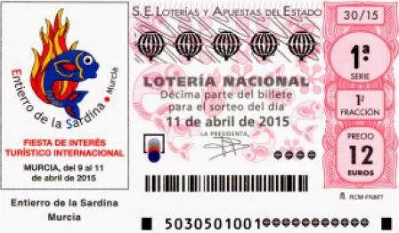 Lotería Nacional especial abril 2015