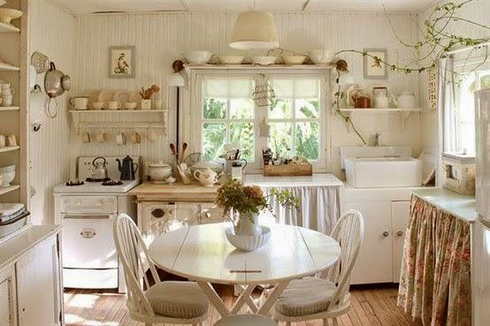 Ma maison au naturel le style shabby chic - Cuisine style shabby ...