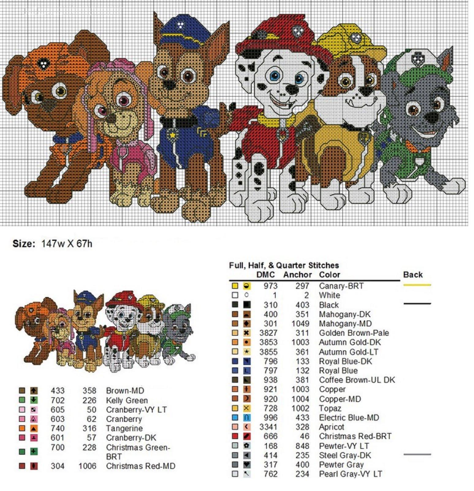Punto de cruz y otras manualidades patrulla canina - Manualidades patrulla canina ...