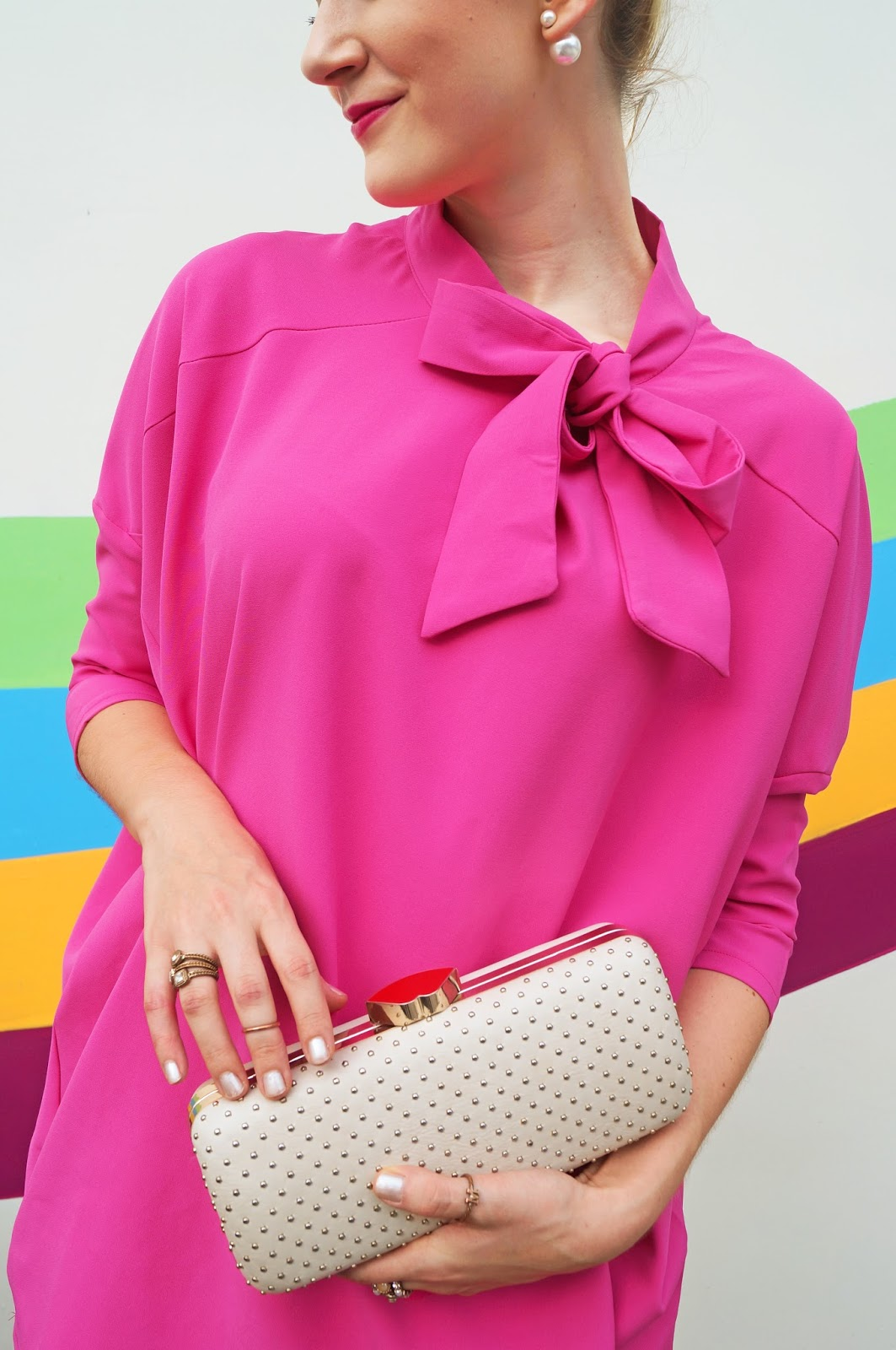 Love this adorable pink bow dress!