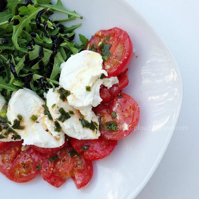 Warme Tomaten mit Ziegenfrischkäse Rezept Frollein Pfau