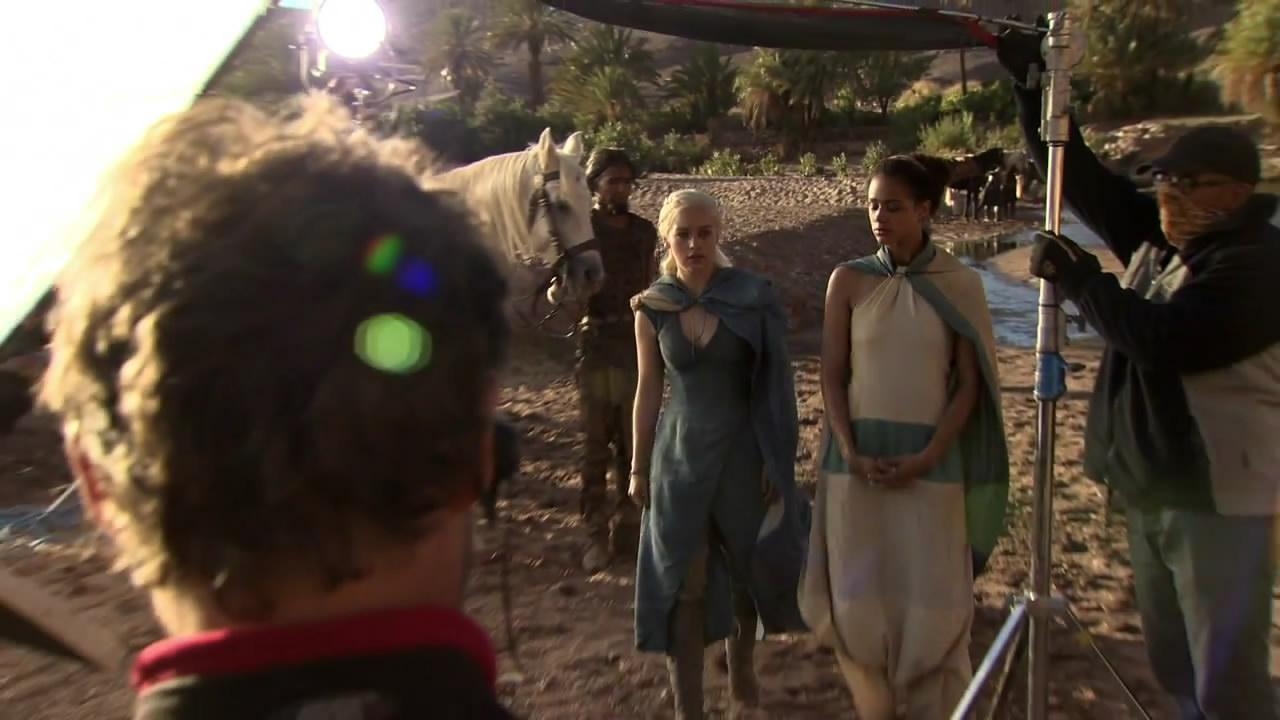 Emilia Clarke (Dany) y Nathalie Emmanuel (Missandei)