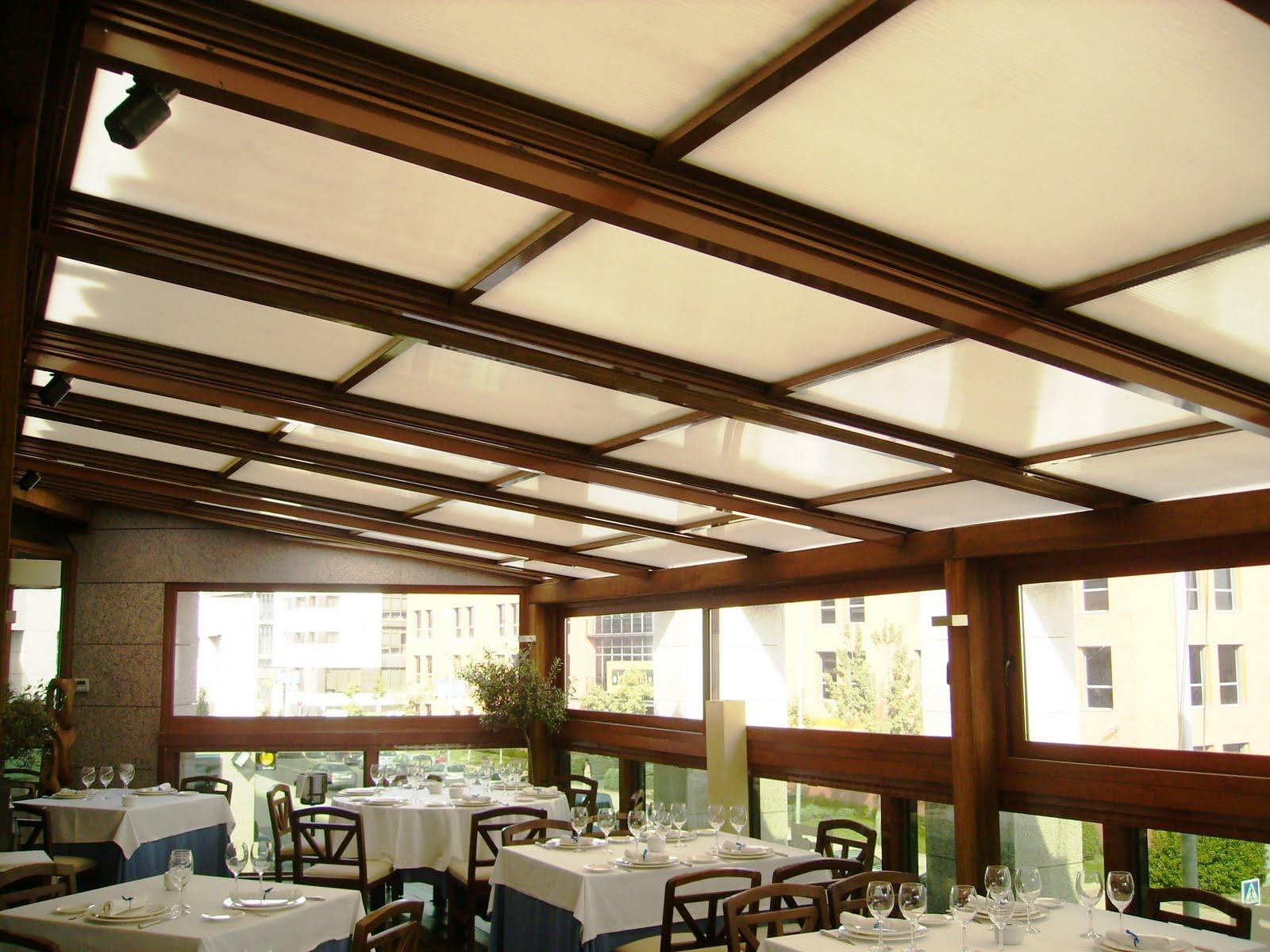 Techos para ampliacion restaurante cerramientos para for Modelos de gibson para techos