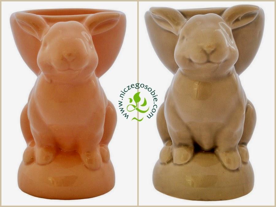 Niczego Sobie ceramiczne podstawki na jajko w kształcie króliczków