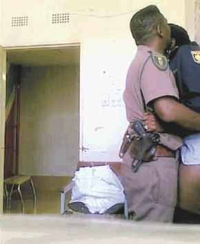 ... picture of two uniformed police officers caught on tape having sex - has ...