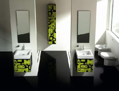 Lime Green Bathrooms