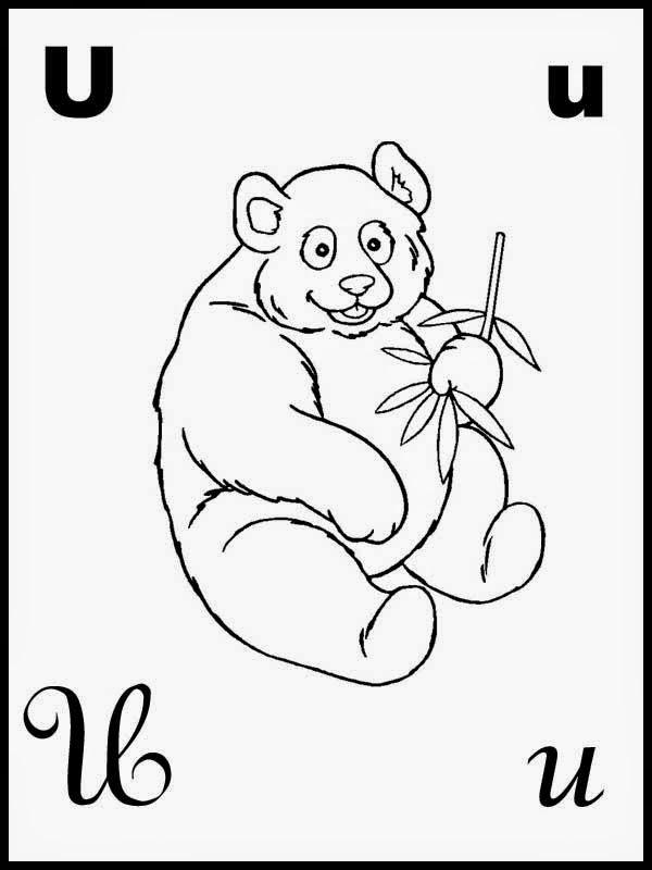 Aprende brincando aprender o alfabeto pintar a letra u - Aprender a pintar ...