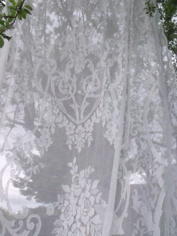 space healer my cotton lace curtains