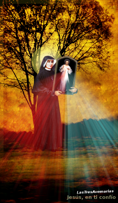 santa faustina y la imagen de jesus resucitado