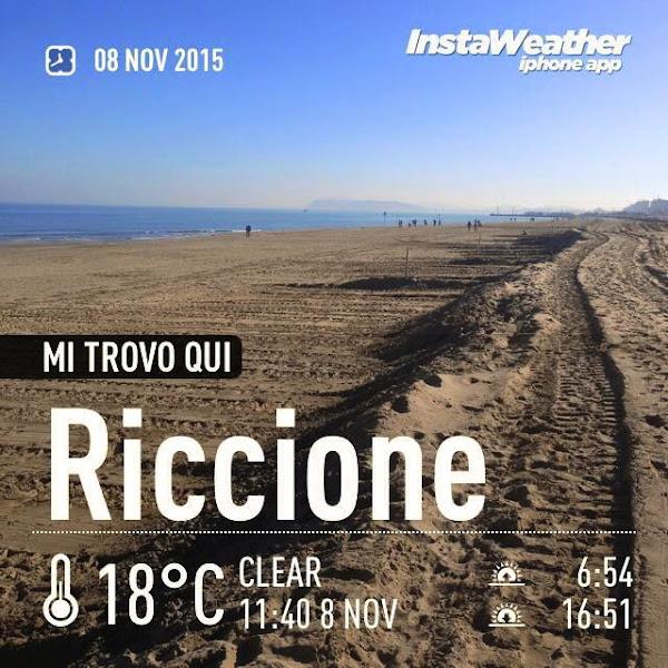 Webcam sulla spiaggia di Riccione