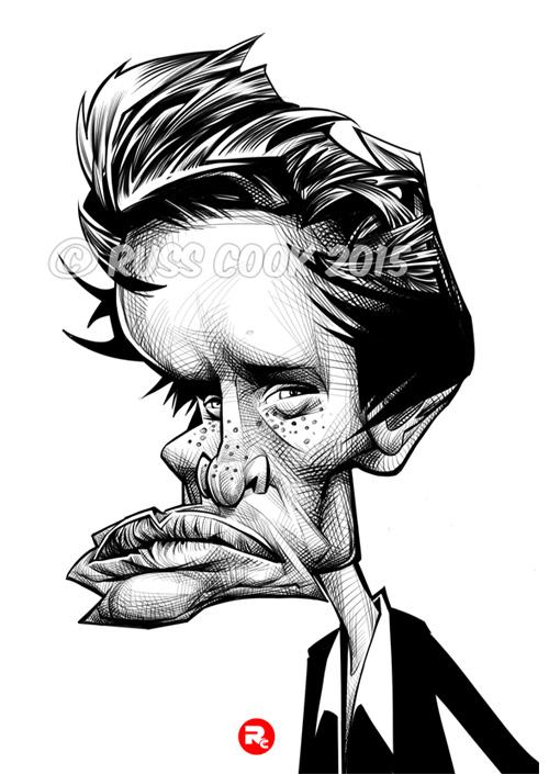 """""""Eddie Redmayne"""" por Russ Cook"""