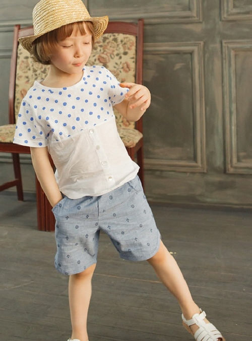 Baby Anchor Printing Short Pants