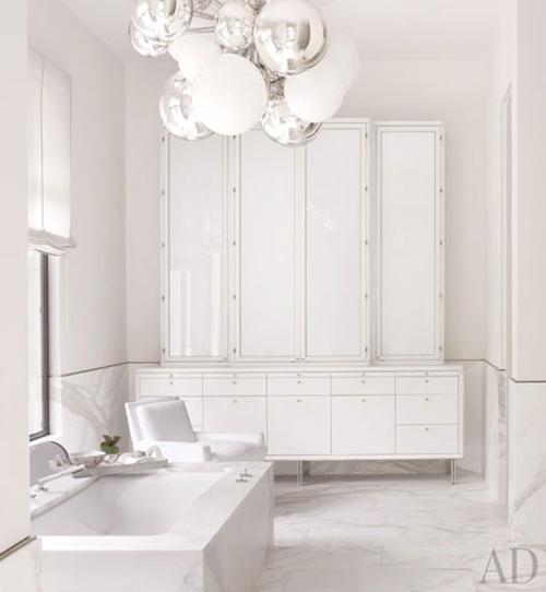 to da loos: all white modern minimalist bathrooms
