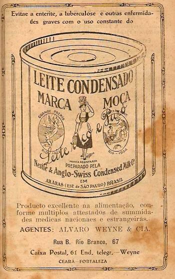 Propaganda do Leite Moça tratado como medicamento nos anos 30.