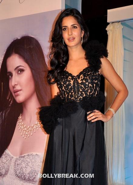 Katrina Kaif in black dress for nakshatra logo launch -  Katrina Kaif Nakshatra New Logo Launch Pics