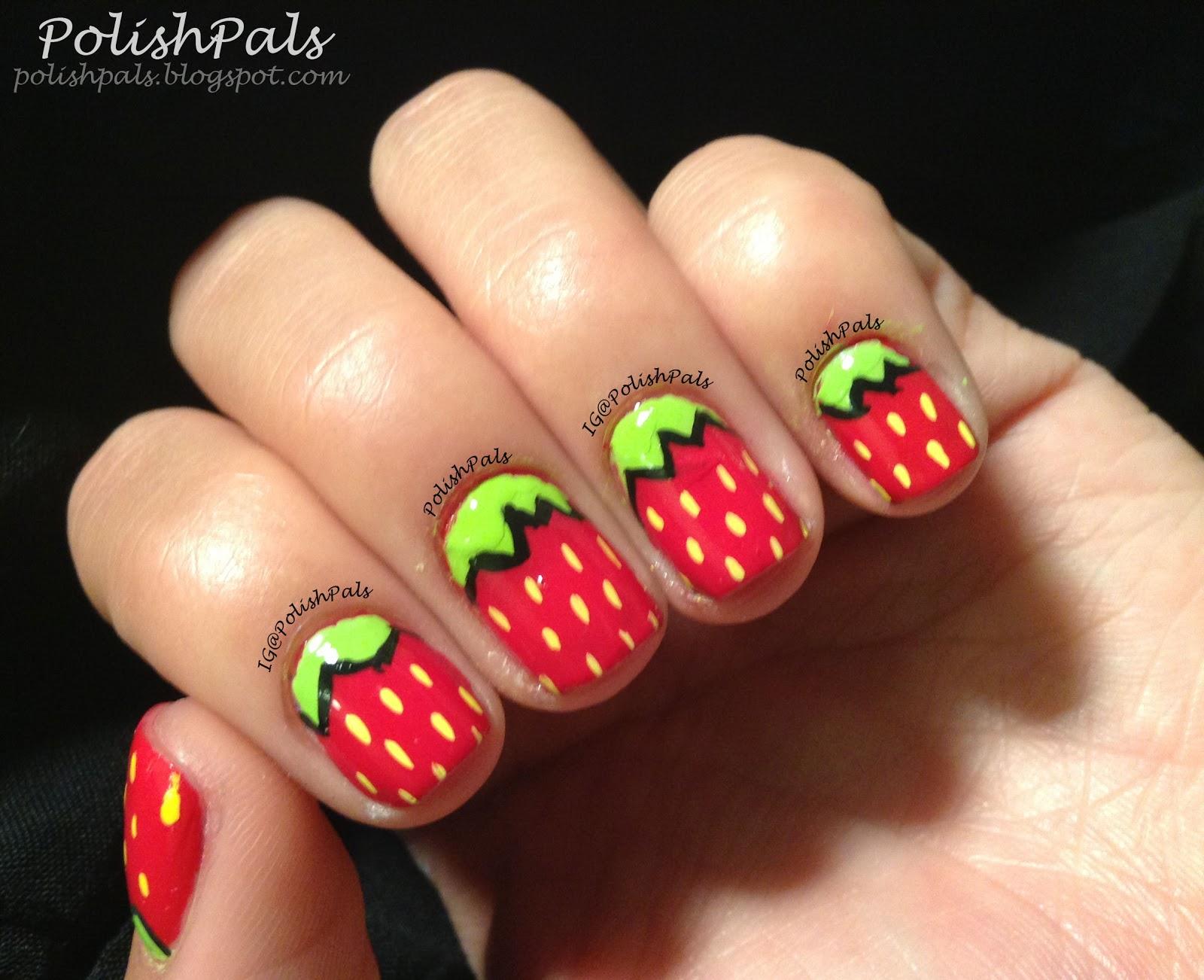Polish pals strawberry nail art tutorial strawberry nail art tutorial prinsesfo Images