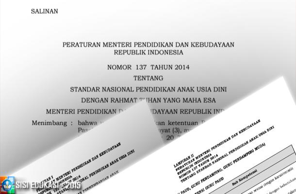 PERMENDIKBUD No. 137 Tahun 2014 Tentang Standar Nasional PAUD