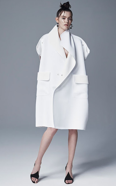 white coats Fashion Runway Maticevski
