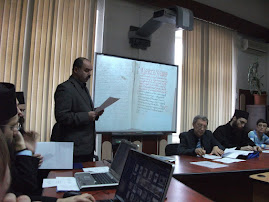 Aspect din timpul comunicării Prof. univ. dr. Petronel Zahariuc, 24.II.2011...
