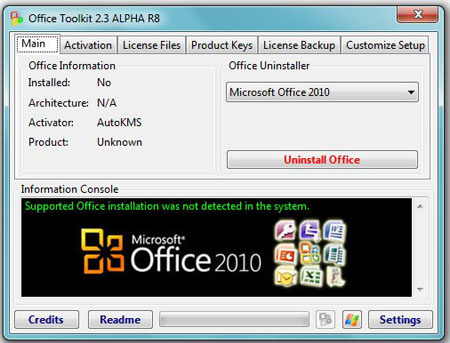 Download | Microsoft Toolkit Stable 2.3.1 - (25 MB) password : www