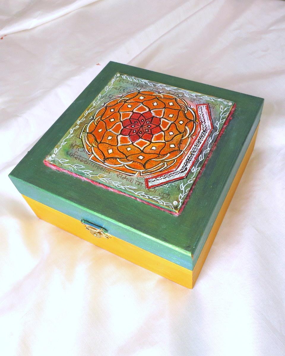 Dharmakarmaarts: Mandala Tile Zen Art Box