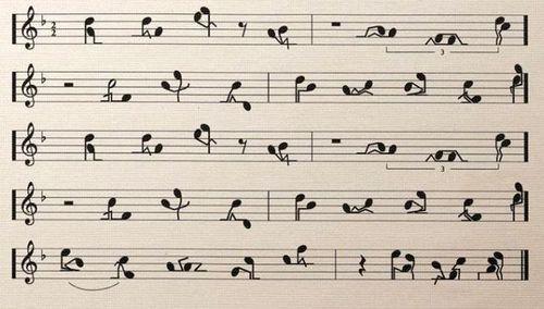 partitura musical com posições sexuais
