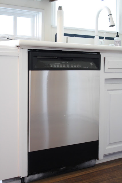 Transform ordinary appliances into stainless steel with this easy & inexpensive DIY via www.julieblanner.com
