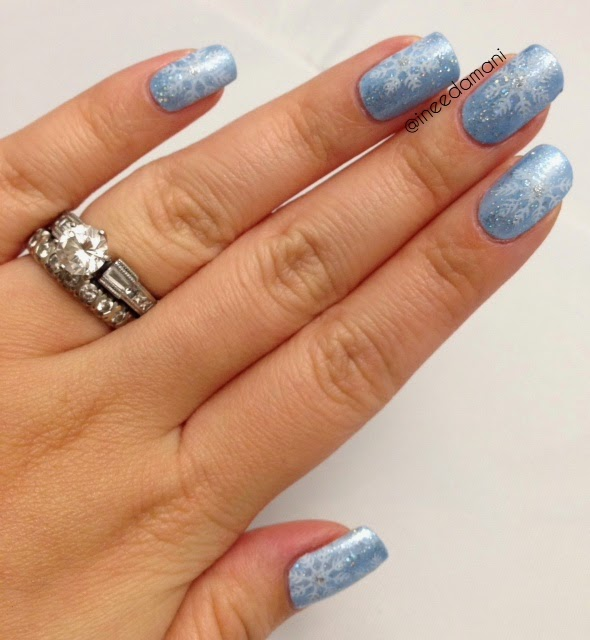 disney frozen elsa snowflake nails how to