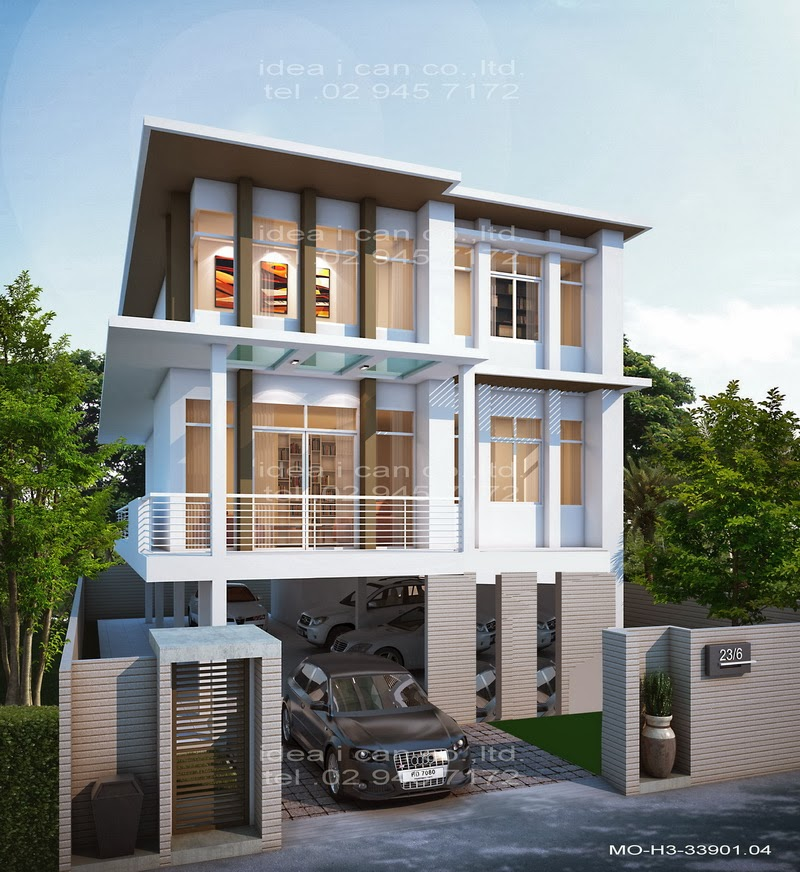the three story home plans 4 bedrooms 3 bathrooms modern ForModern House Plans 3 Story