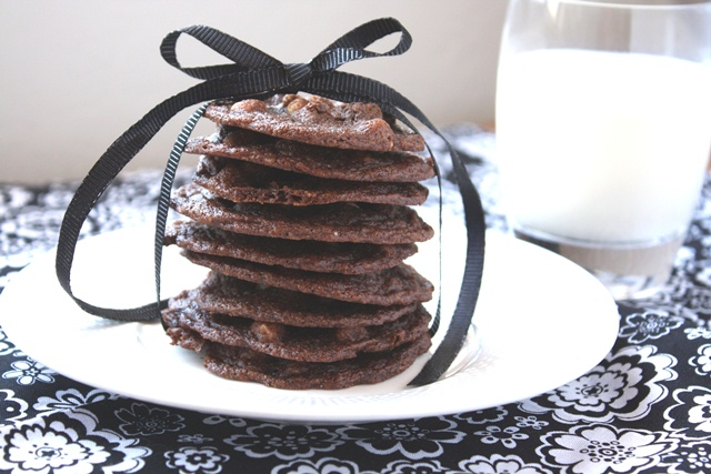 Delicate Chocolate Cookies - made with whole wheat recipe by Barefeet In The Kitchen