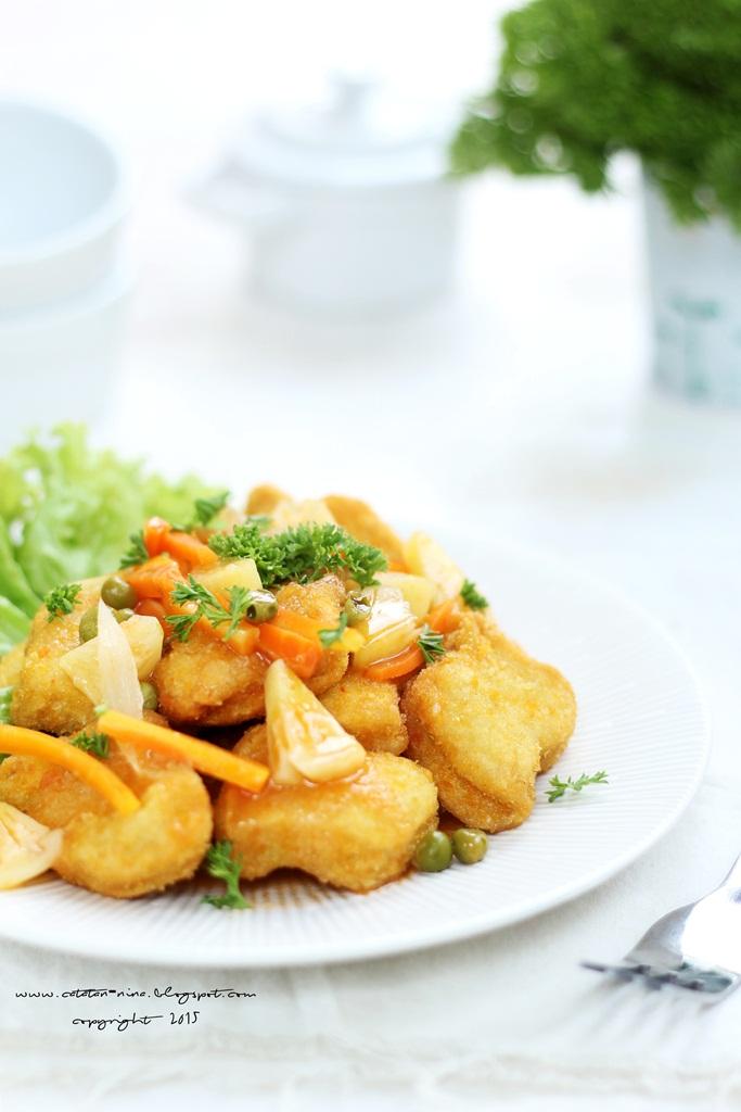 Resep Nugget Ayam Asam Manis