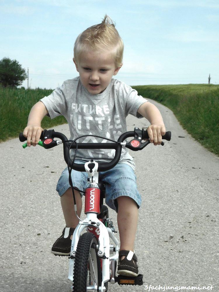 Wie Christopher Fahrrad fahren lernte