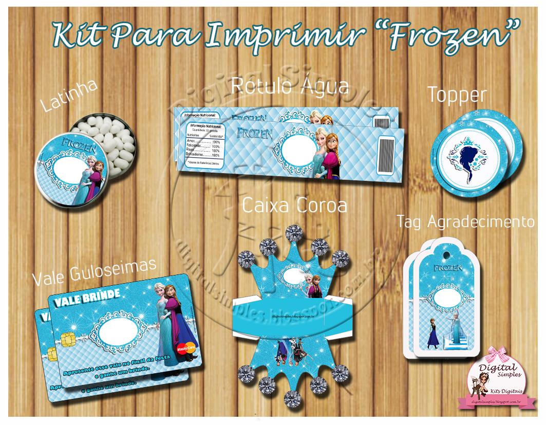Festa Tema Frozen para Imprimir Grátis  Convites Digitais Simples