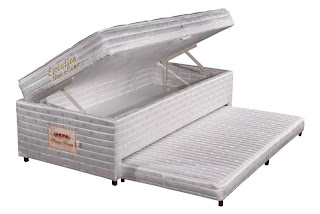 Bau Solteiro com cama Auxiliar e colchão
