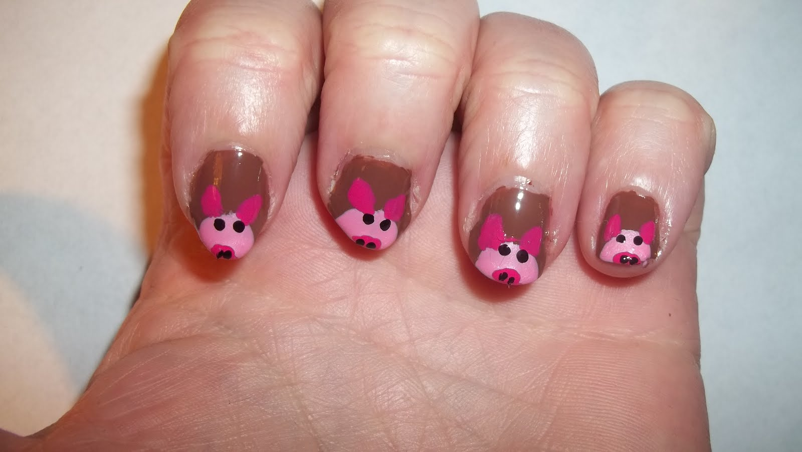 Cute Pig Nail Art Designs : Pretty pig nail art designs