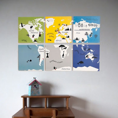 mapa mundi estilizado
