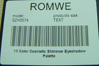 15 Color Cosmetic Shimmer eyeshadow palette by Romwe