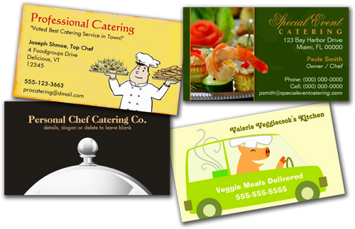 Shop Business Cards: Food Catering Business Cards 2