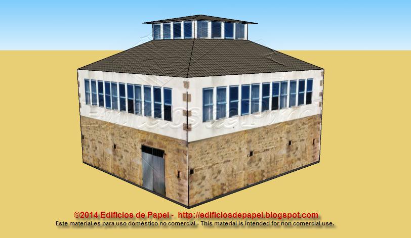 Casa de piedra con mirador