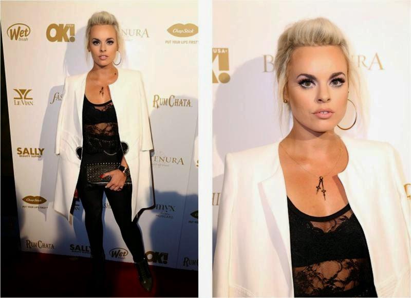 Katy Tiz OK Magazine Grammy Party in LA