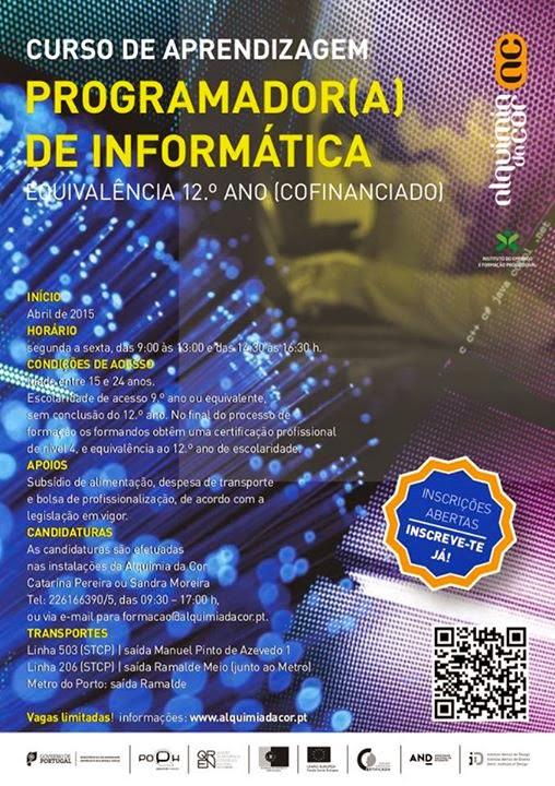 Curso co-financiado de Programador de Informática – Porto (com equivalência ao 12o)